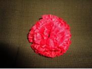 Цветочная головка гвоздика красная Ø8см (5шт)