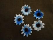 "Цветочная головка ""Астра"" /ткань/ голубая Ø 6 см (5шт)"