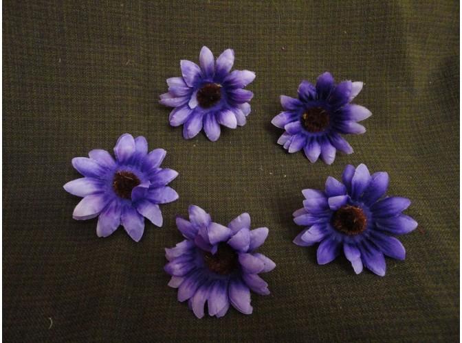 "Цветочная головка  ""Астра"" /ткань/ фиолетовая Ø 6 см (5шт)"