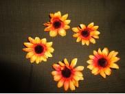 """Цветочная головка  """"Астра"""" /ткань/ желтая Ø 6 см (5шт)"""
