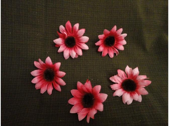 """Цветочная головка  """"Астра"""" /ткань/ розовая Ø 6 см (5шт)"""