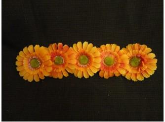 """Цветочная головка  """"Маргаритка"""" 3-хсл. желто_оранжевая Ø 7,5 см (5шт)"""
