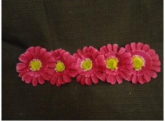 """Цветочная головка  """"Маргаритка"""" 3-хсл.бордовая Ø 7,5 см (5шт)"""