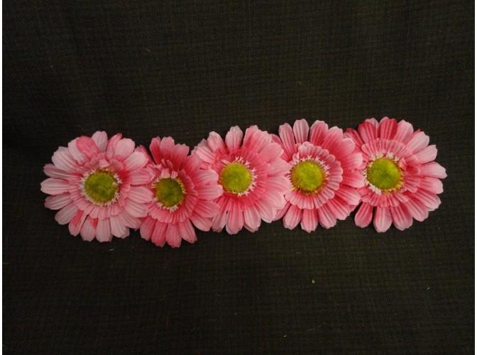 """Цветочная головка  """"Маргаритка"""" 3-хсл. розовая Ø 7,5 см (5шт)"""