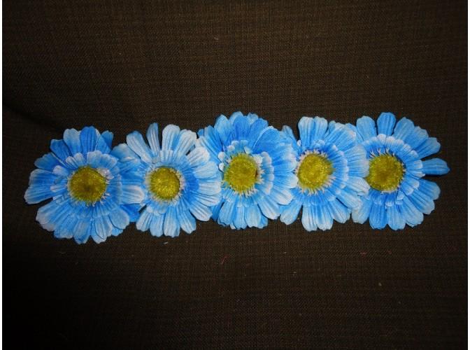 """Цветочная головка  """"Маргаритка"""" 3-хсл. голубая Ø 7,5 см (5шт)"""