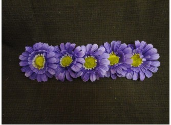 """Цветочная головка  """"Маргаритка"""" 3-хсл. фиолетовая Ø 7,5 см (5шт)"""