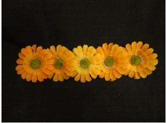 "Цветочная головка ""Гербера желтая""/ткань/ Ø12см (5шт)"