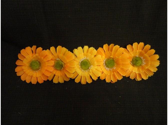 """Цветочная головка  """"Маргаритка"""" 3-хсл. желтая Ø 7,5 см (5шт)"""