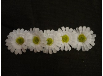 """Цветочная головка  """"Маргаритка"""" 3-хсл. белая Ø 7,5 см (5шт)"""