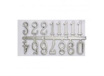 5AS-073 Цифры арабские для часов 1,5см (серебро)