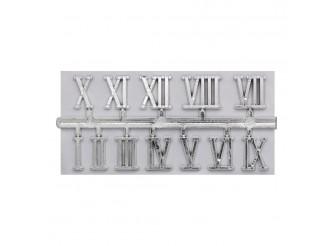 5AS-076 Цифры римские для часов 1,3см (серебро)