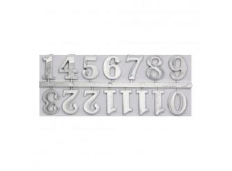 5AS-085 Цифры арабские для часов 2,5см (серебро)