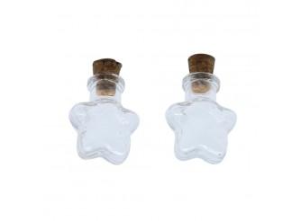 Стеклянная бутылочка с пробкой 'Звезда'/ 2шт/упак