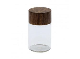 AR1326 Бутылочка стеклянная с деревянной крышечкой 2,4*4см (1шт)