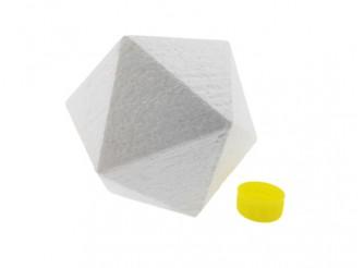 Икосаэдр  из пенопласта Ø12,5 см/20 граней 7,5см  (1шт)