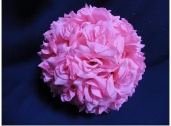 """Деко- шар """"Розовые розы"""" Ø22 см  (1шт)"""