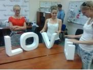"""Буквы из пенопласта """"LOVE"""" h30см (1 комплект)"""