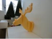 """Фигура настенная из пенопласта """"Голова оленя""""  (1шт)"""