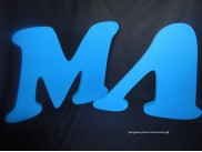 Две буквы для фотосессии (любые) толщина10см (комплект)