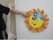 """Декор из пенопласта """"Солнышко с цветами""""  Ø50*3см(1шт)"""