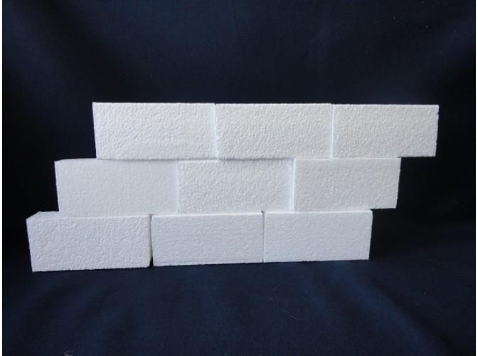 Вставка из пенопласта прямоугольная 10х9х4 см (1шт)
