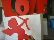 """Буквы из пенопласта/слово """"LOVE"""" h50, w20см, красный (комплект)"""