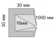 П - профиль из пенопласта 3х3х100 см (1шт)
