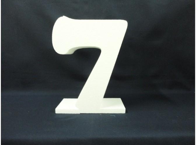 Цифра на подставке из пенопласта h20см; w5см (1шт)