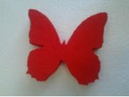 Бабочка из пенопласта цветная Ø20, h1см (набор 5шт)