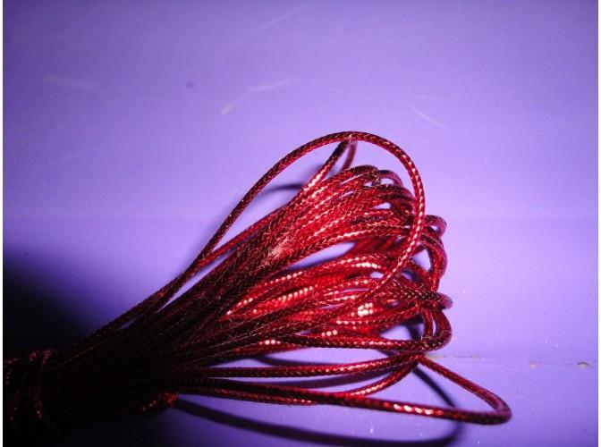 Шнур декоративный красный 2ммх5м (1шт)