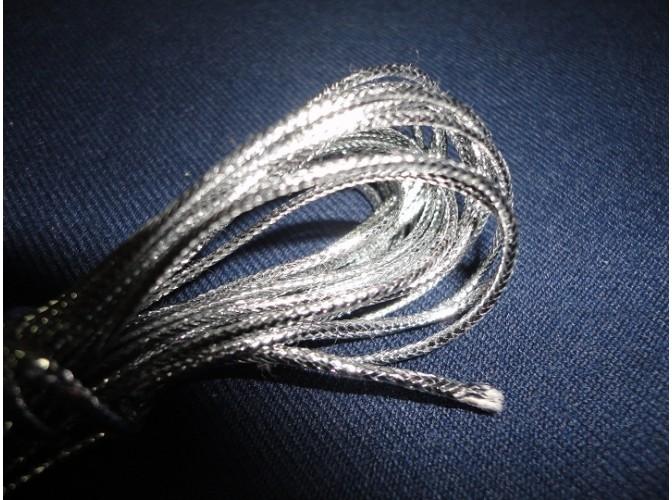 Шнур декоративный серебрянный 2мм*5м (1м)