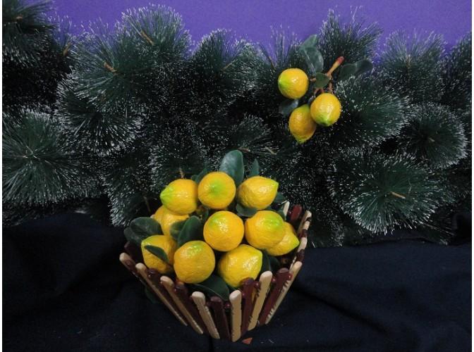 """Муляж """"Лимон""""/ на ветке 3 шт (1ед)"""
