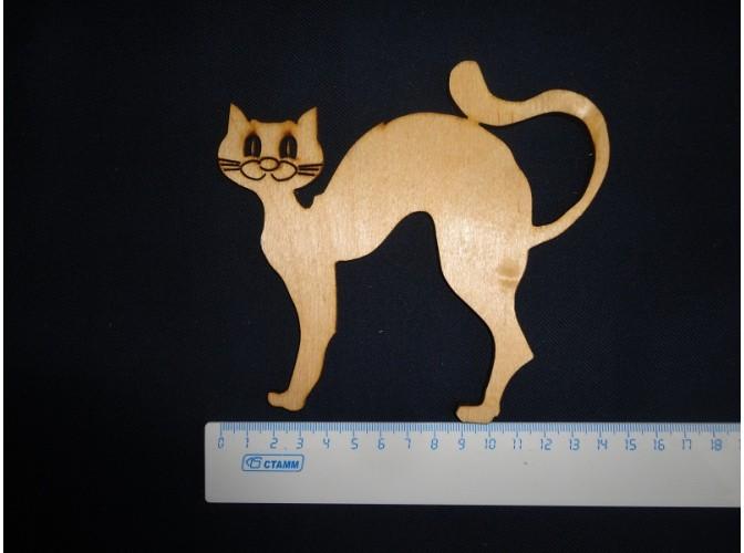 """Заготовка для творчества """"Кошка"""" h12см/фанера (набор 5шт)"""
