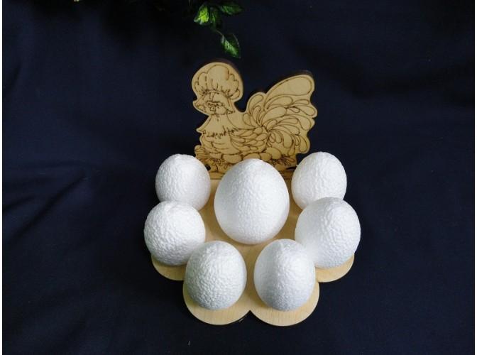 """Подставка деревянная """"Наседка"""" на 7 яиц d 7см (1шт)"""