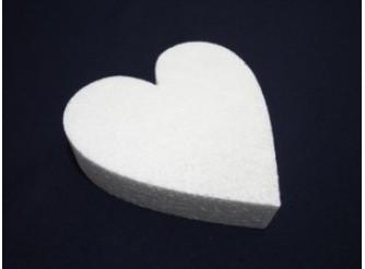 """Заготовка из пенопласта """"Сердце плоское"""" Ø70/5см (1шт)"""