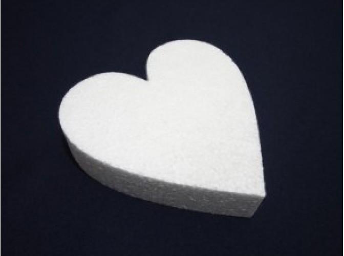 """Заготовка из пенопласта """"Сердце плоское"""" Ø20/2см (1шт)"""
