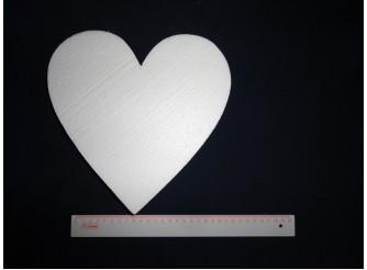 """Заготовка из пенопласта """"Сердце плоское"""" Ø25/5см (1шт)"""