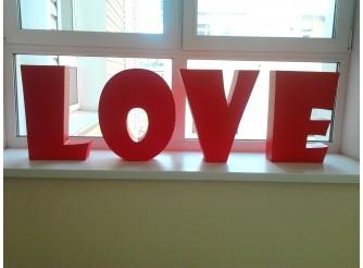 """Буквы из пенопласта/слово """"LOVE"""" h50см, w15см (комплект)"""