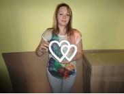 """Заготовка для творчества """"Сердце контурное двойное"""" h20/5см (1шт)"""