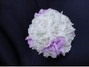 """Деко- шар """"Розы бело-сиреневые"""" Ø22 см (1шт)"""
