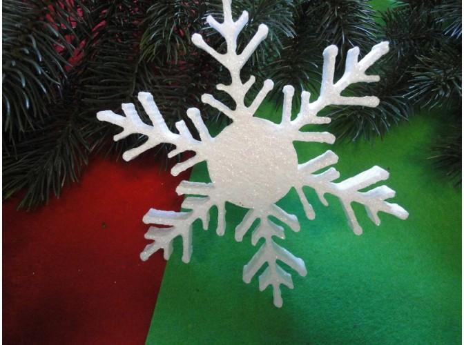 Снежинка из пенопласта Ø 15 см (1шт)