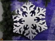 Снежинка из пенопласта Ø 70 см (1шт)