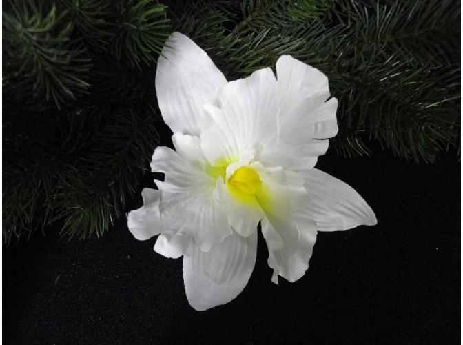 """Цветочная головка """"Орхидея"""" белая Ø15.5см (1шт)"""