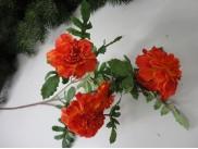 Бархатцы ярко-оранжевые ветка 60см (1шт)