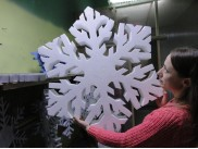 Снежинка из пенопласта Ø 90 см (1шт)