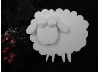 """Заготовка из пенопласта """"Кудрявая овечка""""/рельеф h20см, w3см (1шт)"""