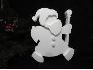 """Заготовка из пенопласта """"Дед Мороз Бодрячок""""/ рельеф h25см;w3см (1шт)"""