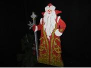 """Заготовка из пенопласта """"Дед Мороз с посохом"""" h70см, w7см/рельеф (1шт)"""