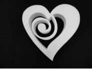 "Заготовка из пенопласта Сердце ""Спираль"" h20, w5 (1шт)"