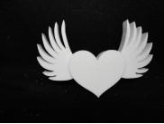 """Заготовка для творчества """"Сердечко с крыльями""""/рельеф h15см (1шт)"""